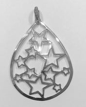 Sterling Silver Stars Pendant