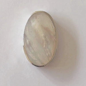 Mother of Pearl Oval Pendant in Sterling Silver