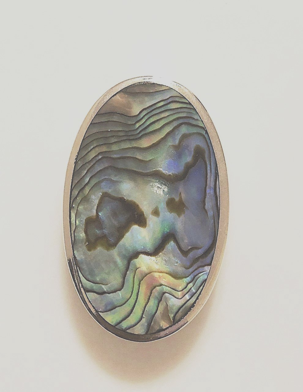 Abalone Shell Sterling Silver Pendant