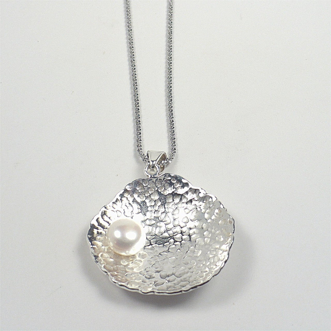 Sterling Silver Seashell Pendant on Chain