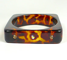 Square Animal Print Bangle