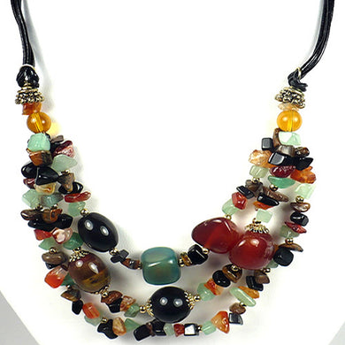 Colorful Multi Stones Necklace Set