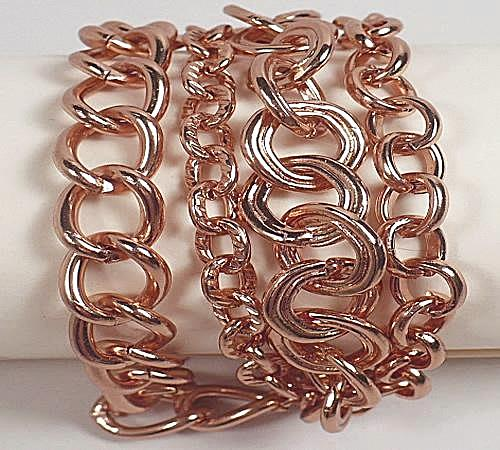 Rose Gold Plated Multi-chain Bracelet