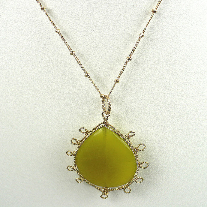 Green Jade Collar Necklace