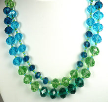 Multi Colored Two Strand Necklace Set