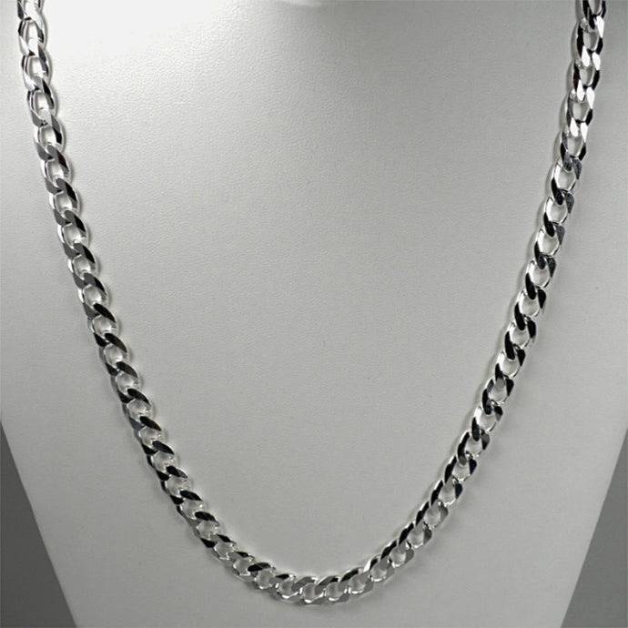 22 inch Sterling Silver Curb Link Chain 250