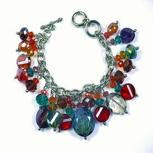 Multi-Color Crystals Chain Bracelet