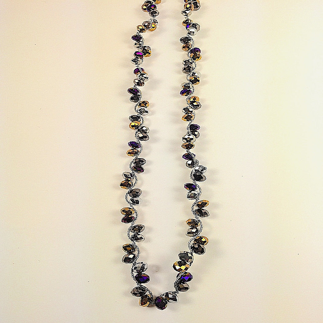 Iridescent Beads Necklace Set