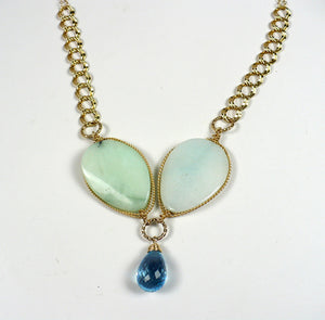 Jade and Blue Topaz Necklace