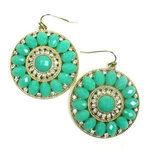 Colorful Jeweled Drop Earrings
