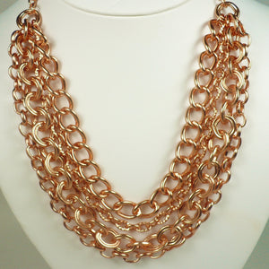 Matte Rose Gold Chain Necklace