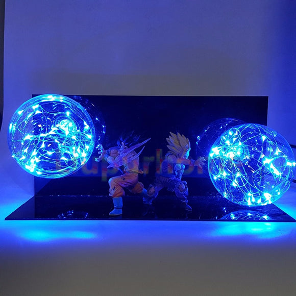 Goku and Gohan Action Figure Lamp - Discount Gaming