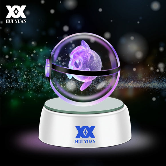 Pokemon in Crystal Ball LED Lamp - Discount Gaming