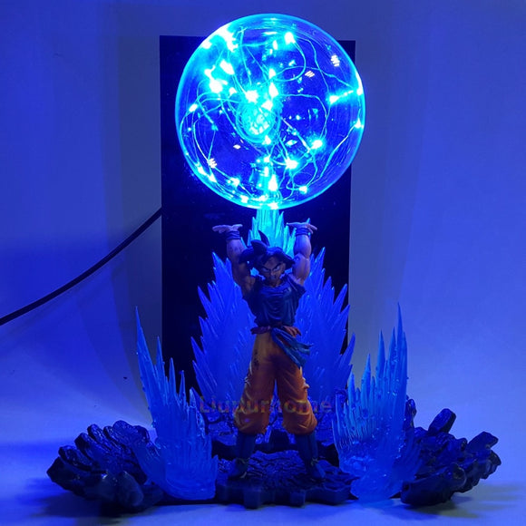 Goku Spirit Bomb Action Figure Lamp - Discount Gaming