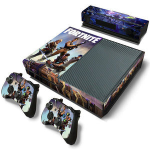 Fortnite Decal Skin Sticker for XBox One Console and 2 Controllers - Discount Gaming