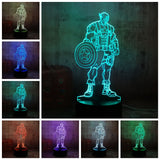 Marvel Superhero LED Lamp with 7 Changeable Colors - Discount Gaming