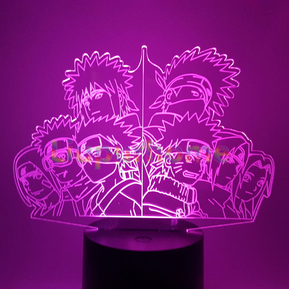 Naruto Team 7 / Minato Team LED Lamp - Discount Gaming