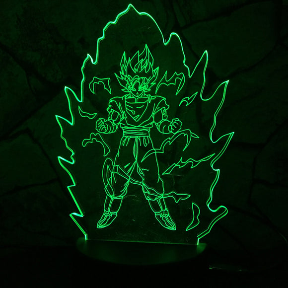 Goku LED Lamp - Discount Gaming