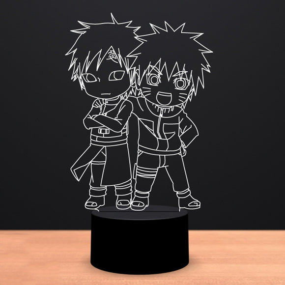 Young Naruto/Gaara LED Lamp - Discount Gaming