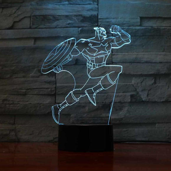 Captain America LED Lamp - Discount Gaming