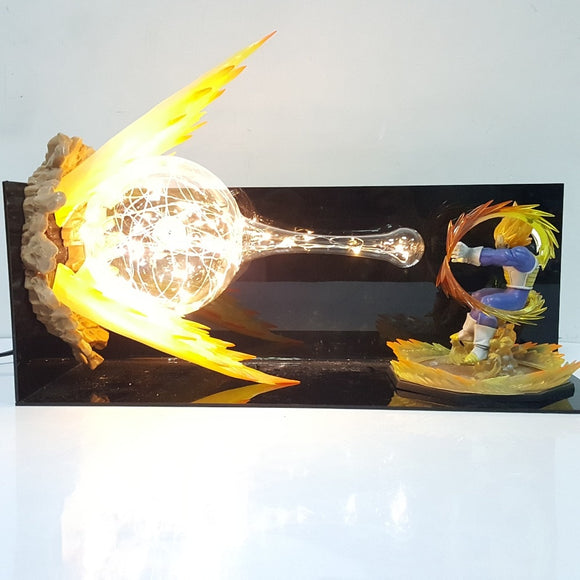 Vegeta Final Flash Action Figure Lamp - Discount Gaming