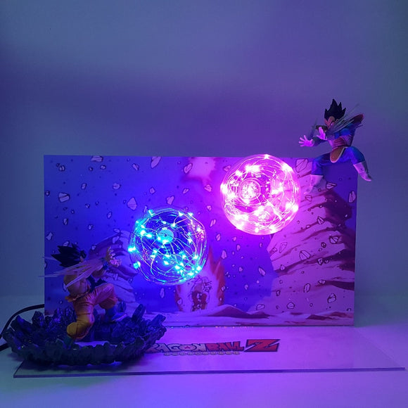 Dragon Ball Lamp Goku Kamehameha VS Vegeta Galick Gun Led Action Figure Setup - Discount Gaming