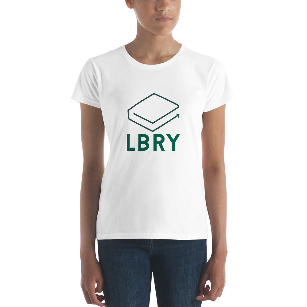 Women's short sleeve LBRY Logo t-shirt (White)