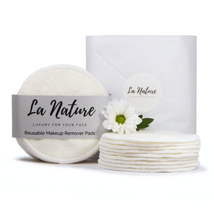 Washable Reusable Makeup Remover Pads Zero Waste Rounds - La Nature Store