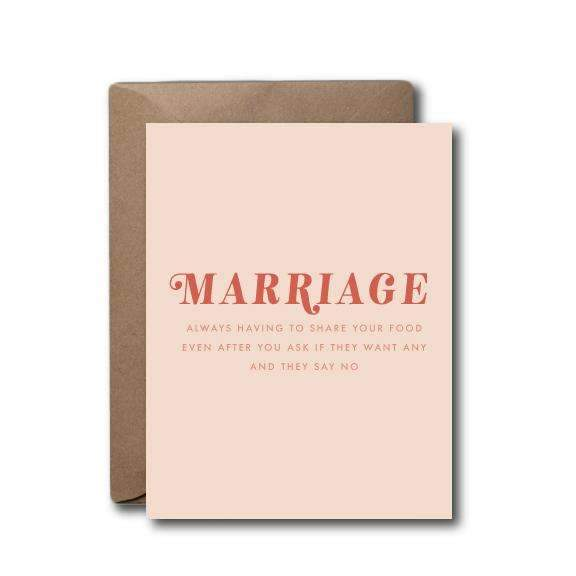 Marriage Sharing Food Anniversary Wedding Greeting Card