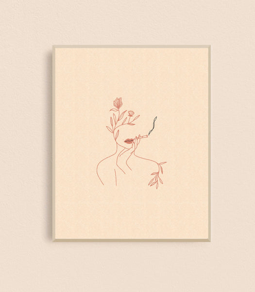 Floral Joint Lady Art Print