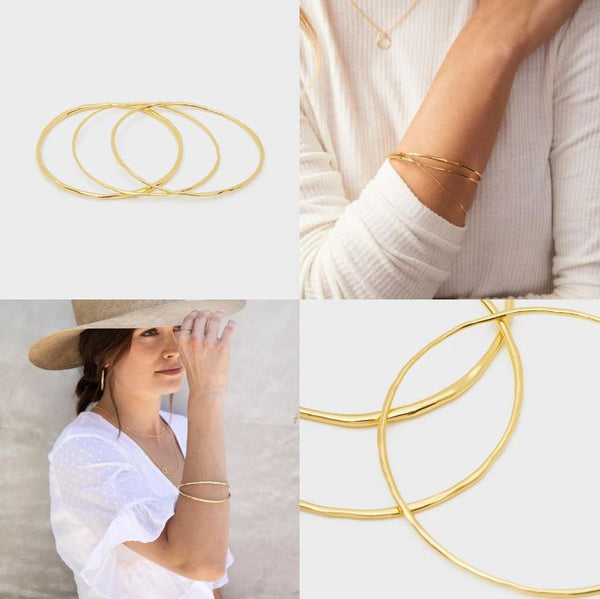 Gorjana | Quinn Delicate Bangle Set | Gold