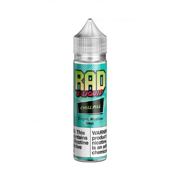 Rad E-Liquid- Chill Pill 60mL 3mg ONLY! - VAPINDASH