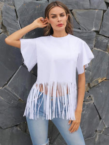Free Fringe Fashion Top Blouse Shirt (XL)