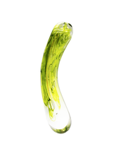 Load image into Gallery viewer, Studio Vine Glass Dildo Lime Green