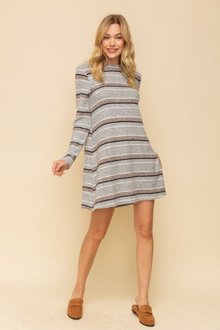 Greta Mock Neck Tee Dress [L]