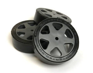 40x12mm Silicone tires and ABS wheels