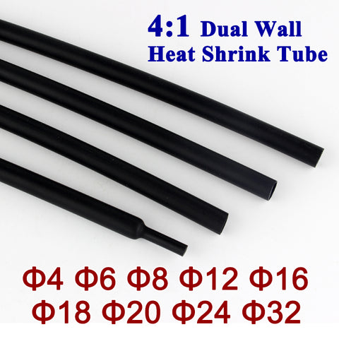4:1 Dual-wall Heatshrink (4-32mm)