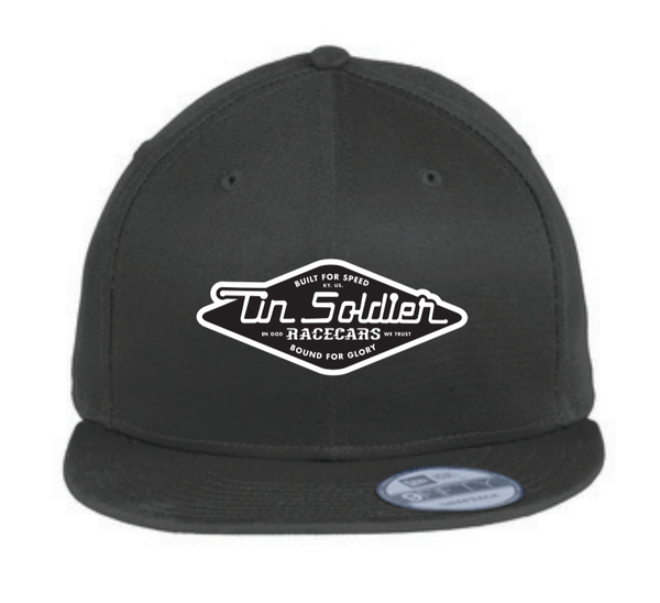 New Era® TSR Snapback Black Flat Bill