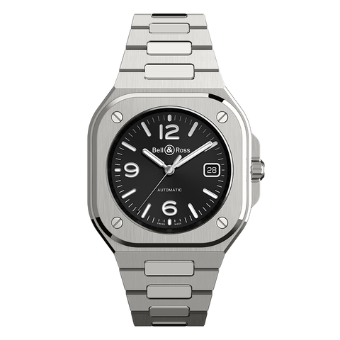 bell and ross br05 steel black dial watch