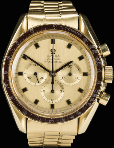Lot 141 of the Bonhams Space History Auction consists of astronaut Alan Bean's Omega watch. Photo courtesy of Bonhams.
