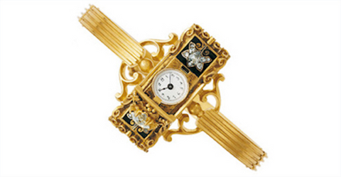 gold bracelet watch for Countess Koscowicz of Hungary