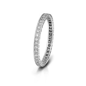 Milgrain Diamond Eternity Band