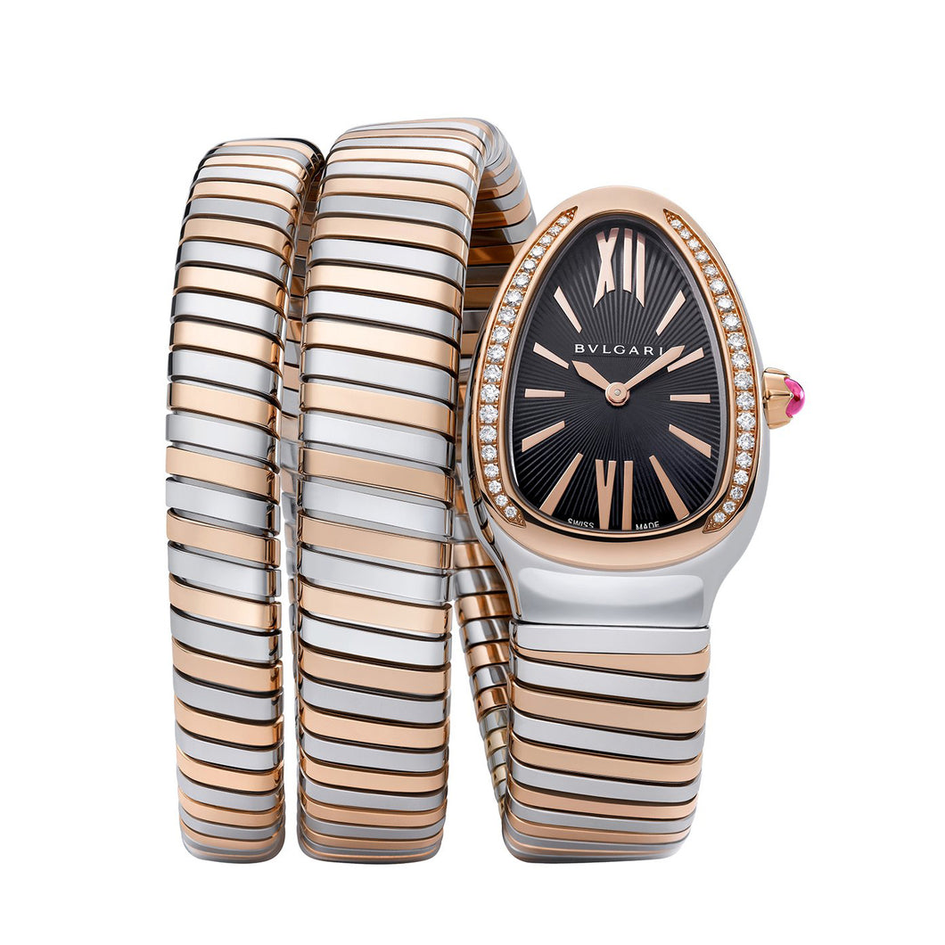 Bulgari Serpenti Tubogas Stainless Steel and 18kt Rose Gold