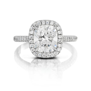 Cushion Cut Diamond Halo Ring
