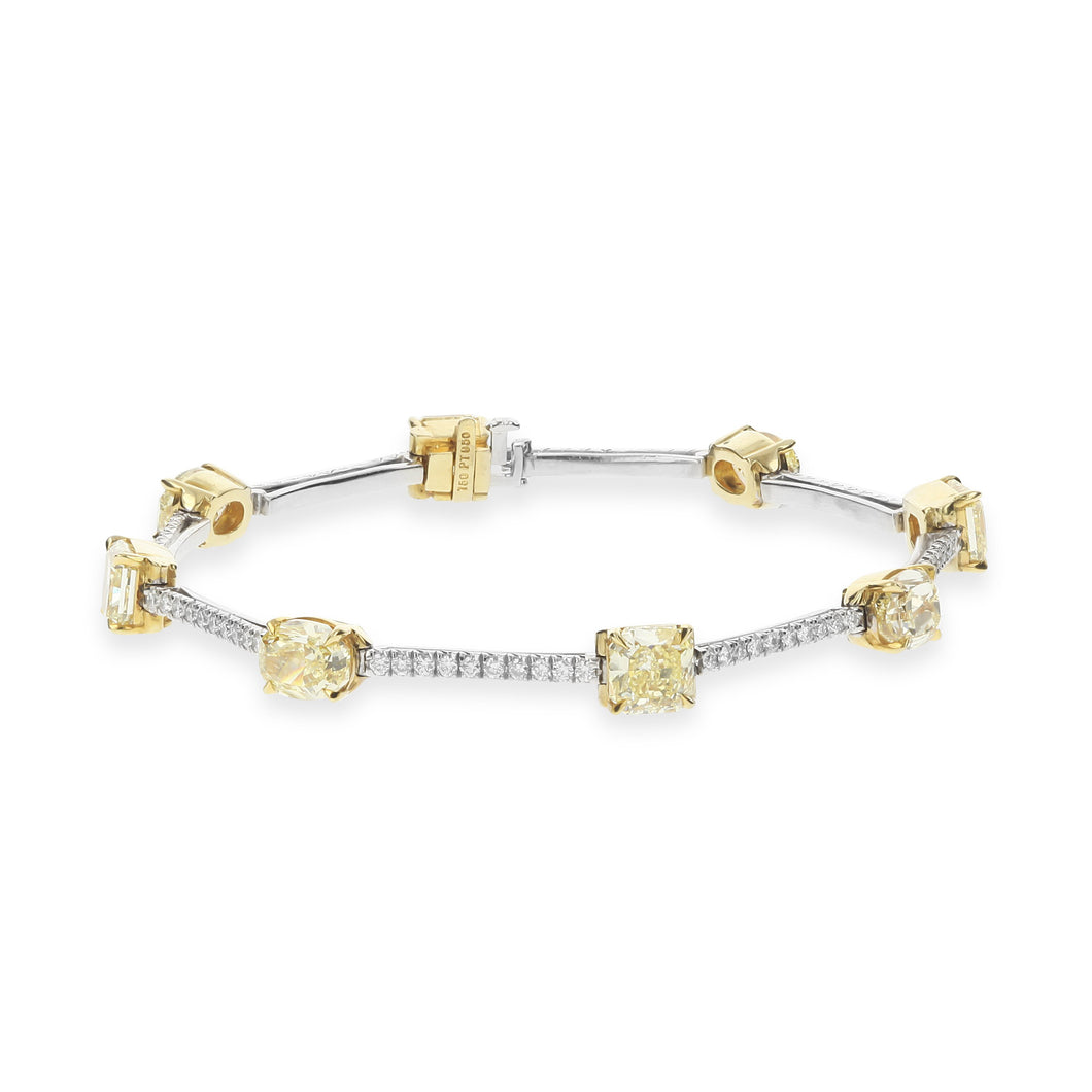 Fancy Yellow Diamond Bracelet