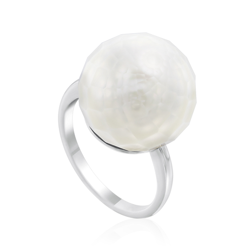 Faceted South Sea Pearl Ring