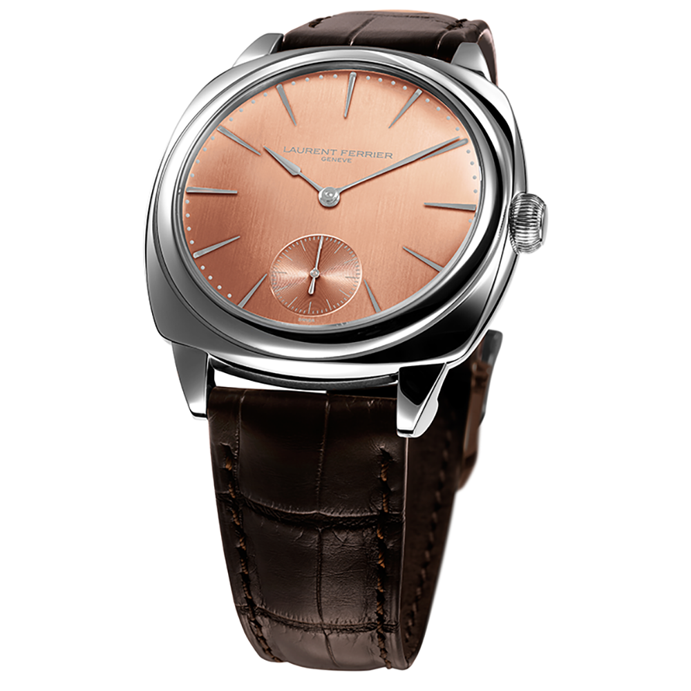 Laurent Ferrier Galet Square in Stainless Steel and Rose Gold Toned Dial
