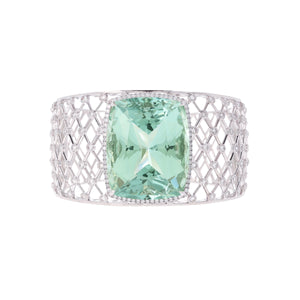 Aquamarine and Diamond Cuff Bracelet