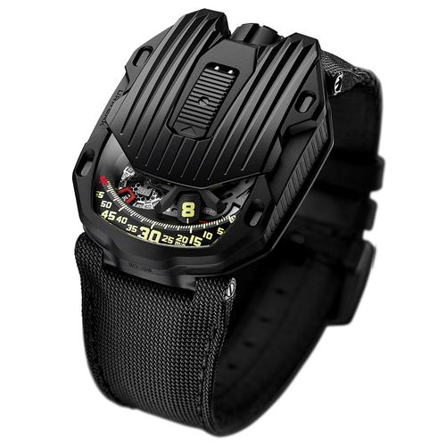 Urwerk UR105CT Streamliner Black in Steel and Titanium