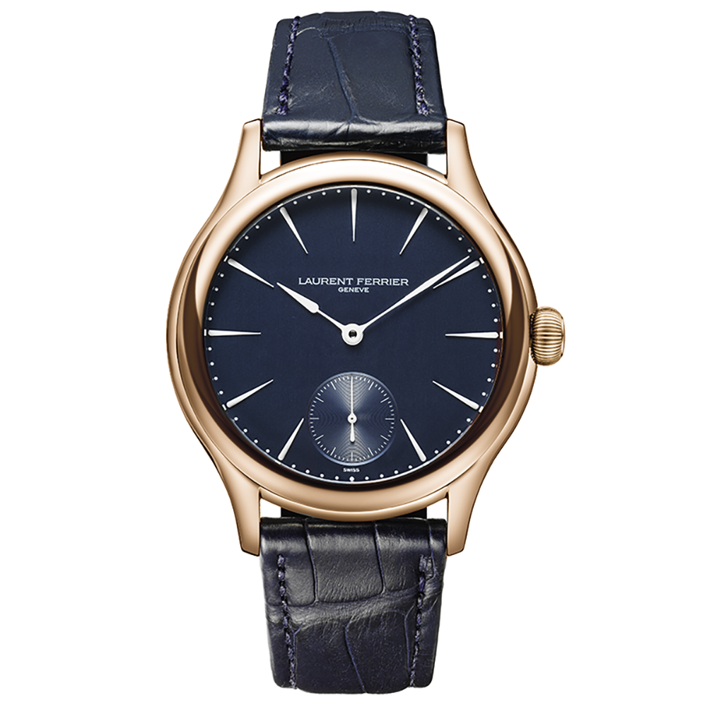 Laurent Ferrier Galet Micro-Rotor in Rose Gold and Navy Di